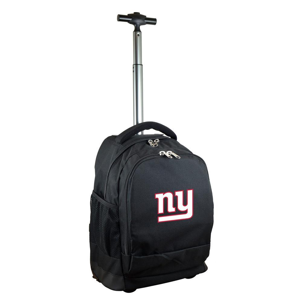 Denco NFL New York Giants 19 in. Black Wheeled Premium Backpack