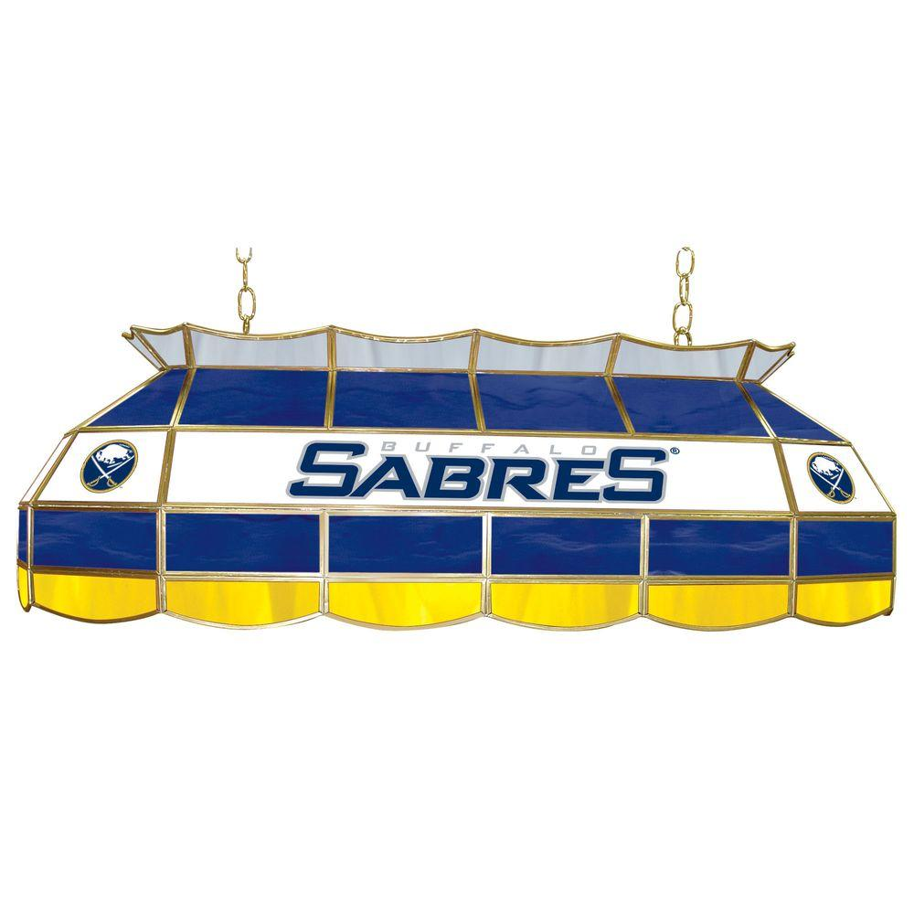 Trademark NHL Buffalo Sabres 40 in. Stained Glass Tiffany Light
