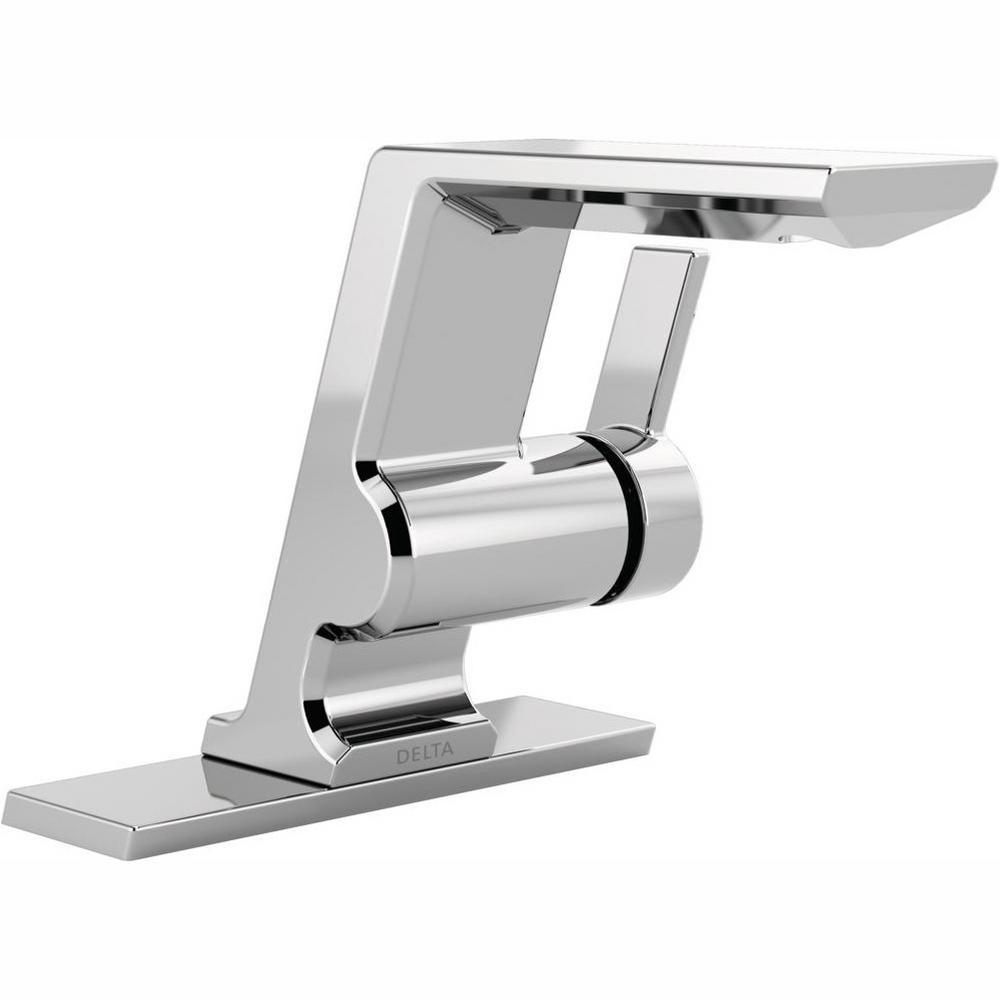 Pivotal Single Hole Single-Handle Bathroom Faucet in Chrome