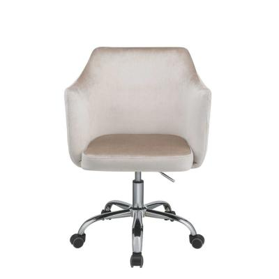 Amelia Champagne Velvet Office Chair