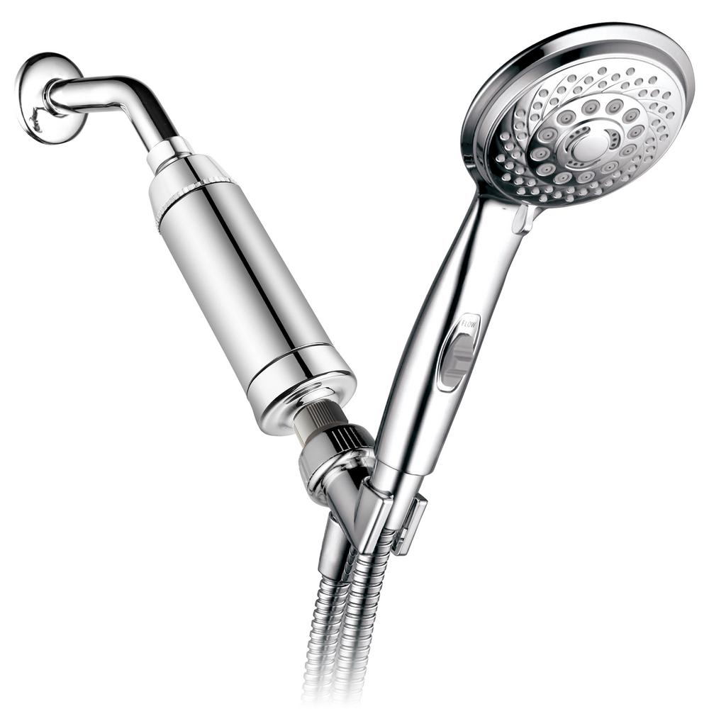 7-Spray Hand Shower with High Performance Shower Filter in Chrome