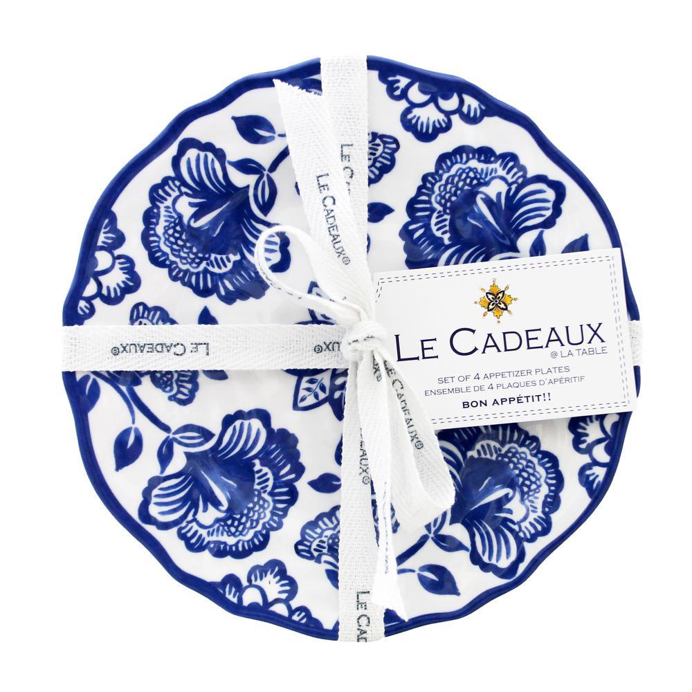 Jardin Blue Appetizer Plates (Set of 4)