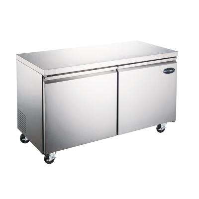 47.25 in. W 12 cu. ft. Commercial Under Counter Refrigerator Cooler in Stainless Steel