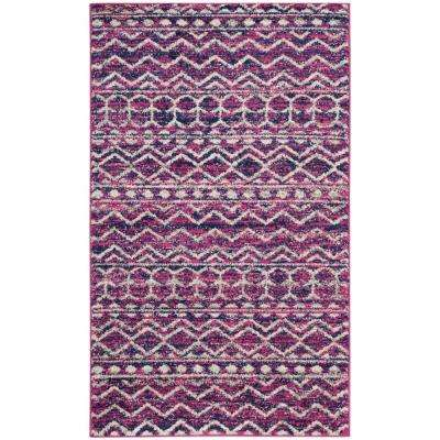 Madison Fuchsia/Navy 3 ft. x 5 ft. Area Rug