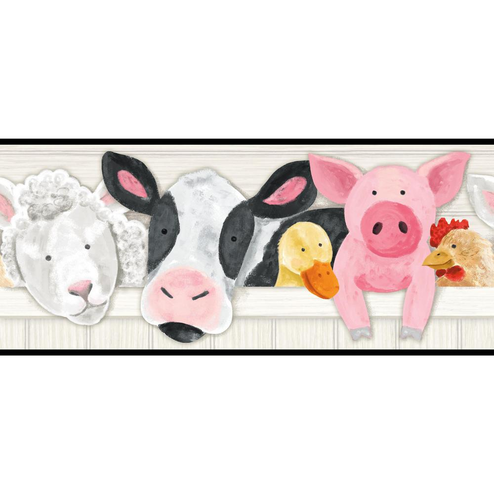 Brothers and Sisters V Barnyard Friends Wallpaper Border