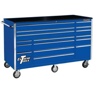 Click here to buy Extreme Tools THD Series 72 inch 16-Drawer Roller Cabinet Tool Chest, Blue by Extreme Tools.