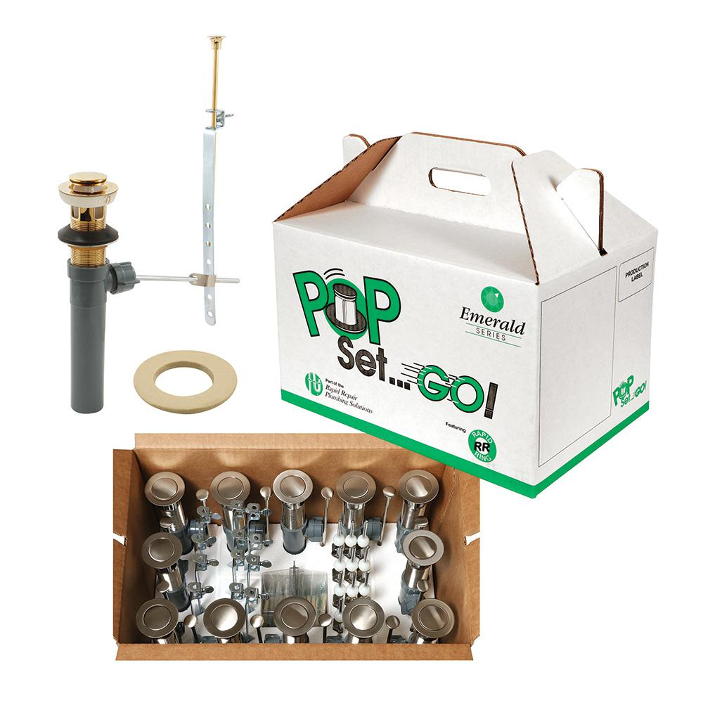 Prime Line Pop Set Go Kit Polished Brass With Putty Rp31200pb12 The Home Depot