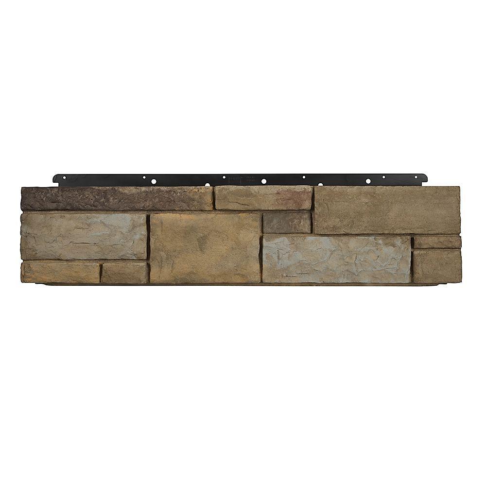 Boral 8 in. x 36 in. Versetta Stone Tight-Cut Corner Plum Creek Siding (6-Bundles), Multi-Colored -  4210700