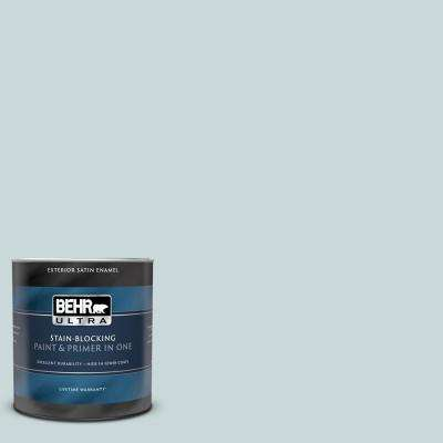 1 qt. #UL220-10 Offshore Mist Satin Enamel Exterior Paint and Primer in One