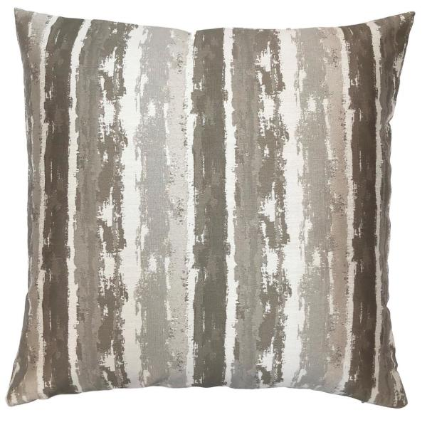 Armen Living Murray Stone Jacquard Feather and Down Standard Throw Pillow