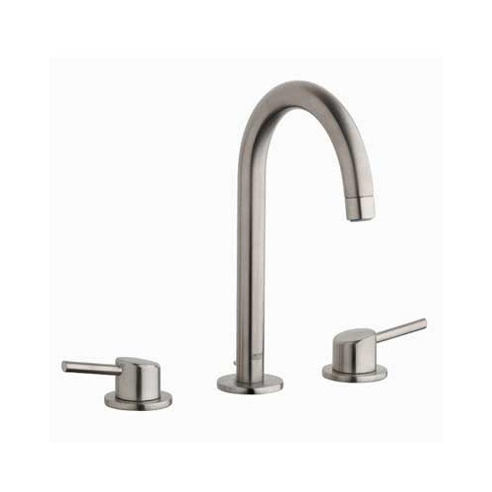 GROHE Concetto 8 In. Widespread 2 Handle Bathroom Faucet In Brushed  Nickel 20217EN1   The Home Depot