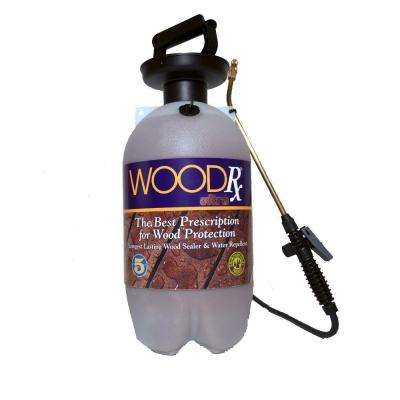 2 gal. Ultra Mahogany Transparent Interior/Exterior Wood Stain/Sealer with Pump Sprayer/Fan Tip