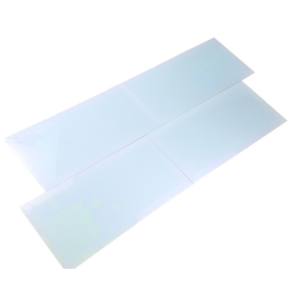 Frosted Elegance Catherine Blue 8 in. x 16 in. Glass Peel