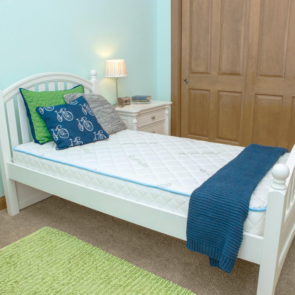 FirsTime & Co. Kids Blue 8-Organic Cotton Comfort Twin Mattress-in-a-Box