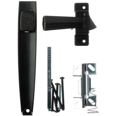 1-3/4 in. Black Push-Button Latch