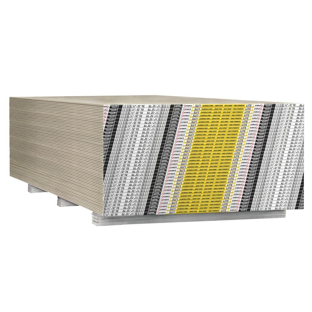 High Strength Lite 1/2 in. x 4 ft. x 12 ft. Lightweight Drywall Sheet