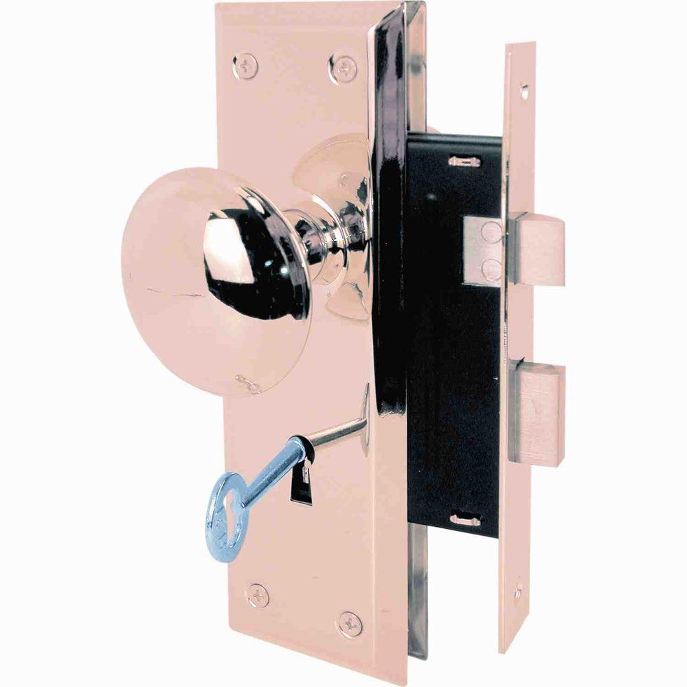 Prime-Line Victorian Style Keyed Mortise Entry Lock Set