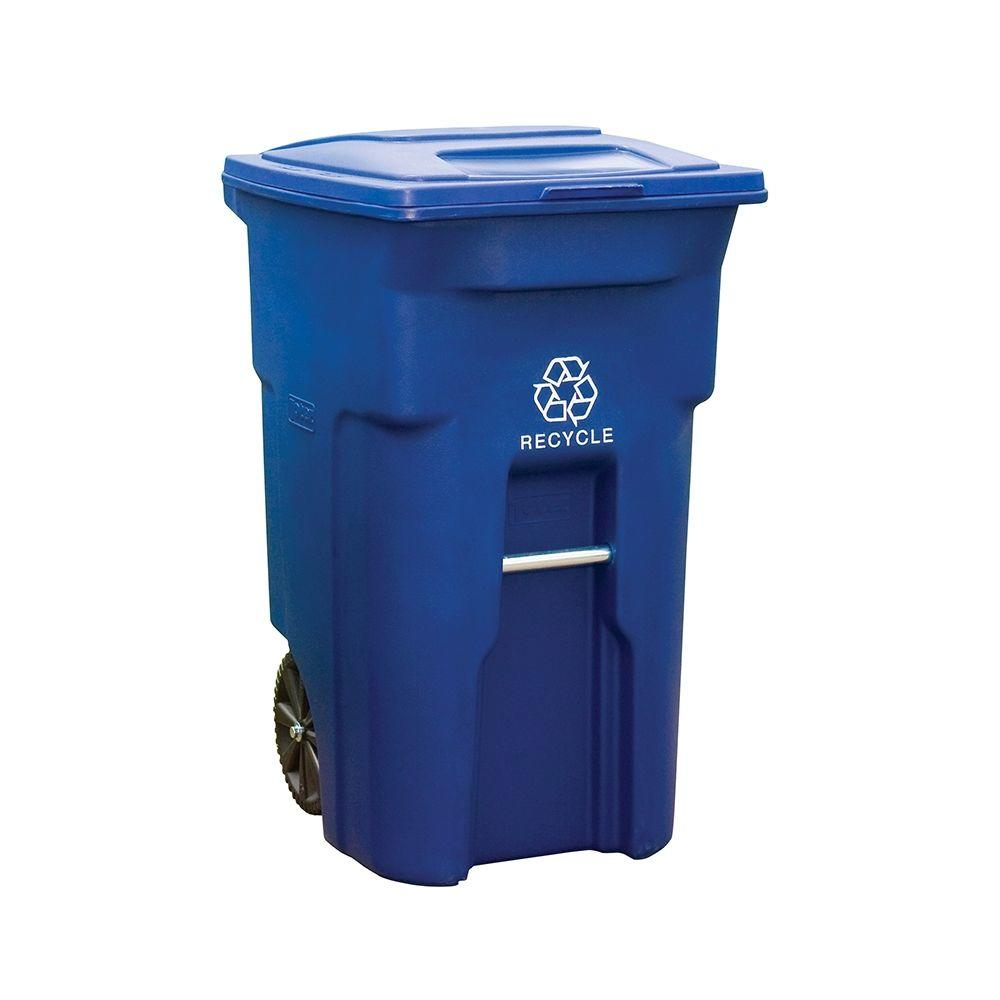 Toter 64 Gal. Rollout Recycling Container with Attached Lid
