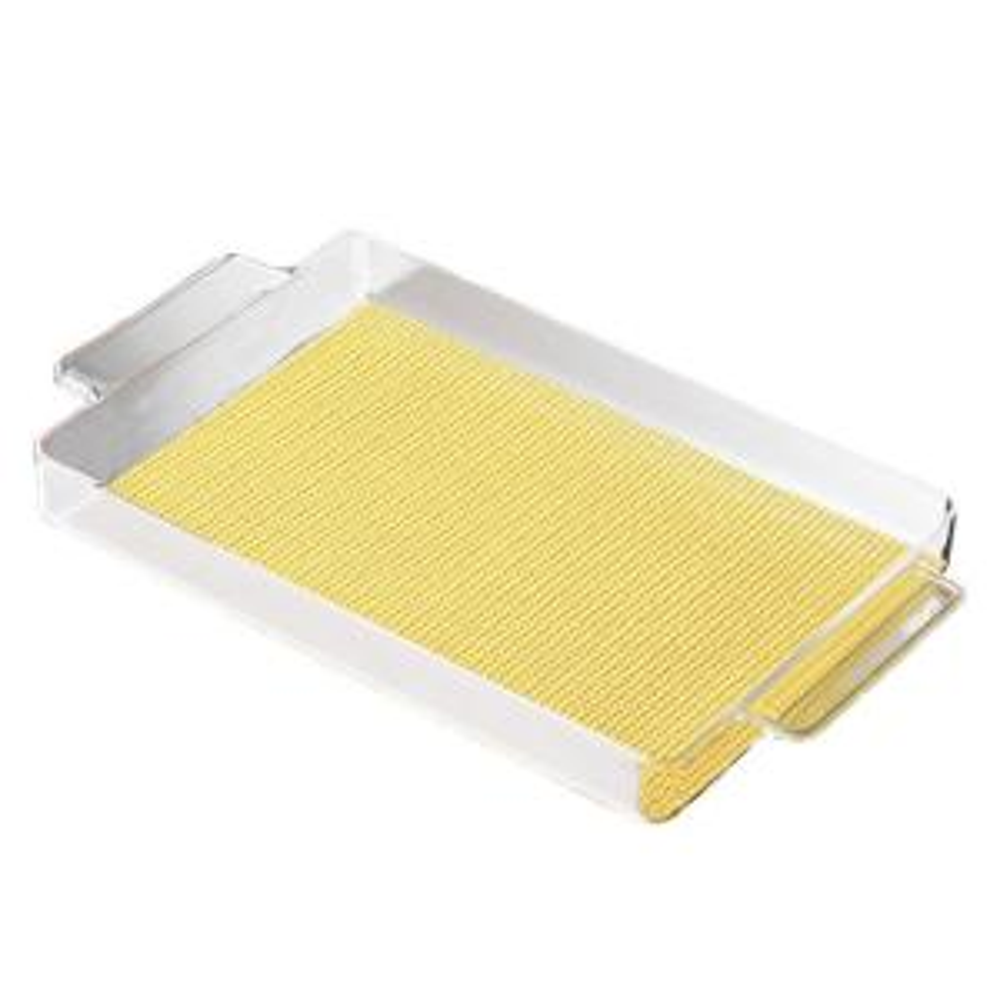 Kraftware Fishnet Rectangular Serving Tray in Lemon by Kraftware