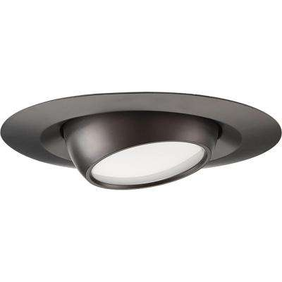 4 in. Black Integrated LED Recessed Trim