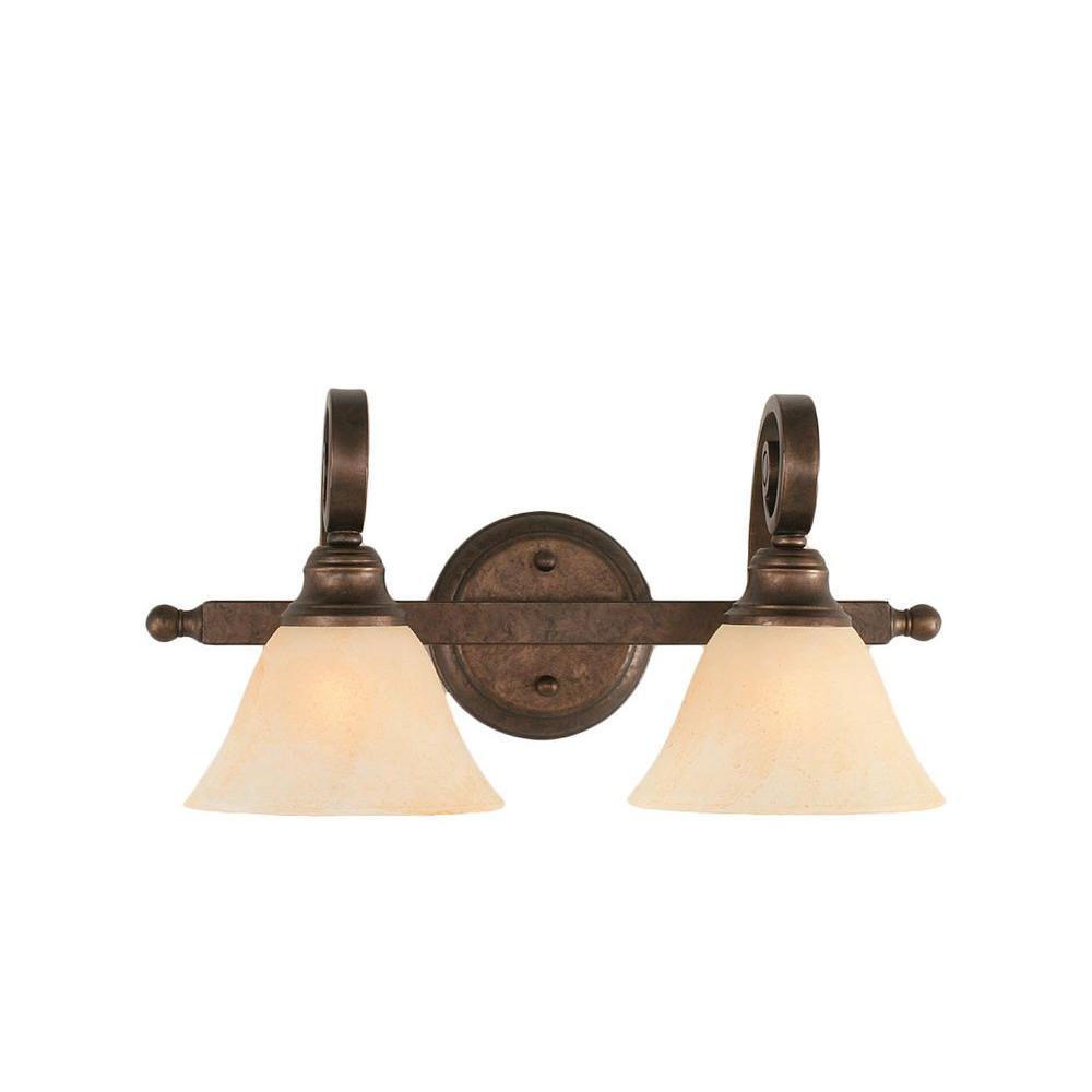 Filament Design Concord 2-Light Bronze Incandescent Mount Semi-Flush Light
