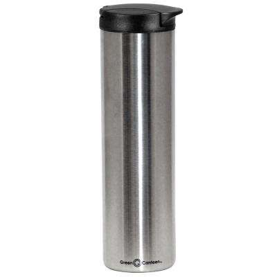 16 oz. Silver Double Wall Stainless Steel Travel Mug (6-Pack)