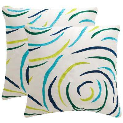 Lollypop Soleil Square Outdoor Throw Pillow (Pack of 2)