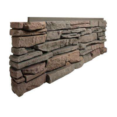 Stacked Stone Keystone 12 in. x 38 in. Faux Stone Siding Corner Panel Left (8-Pack)