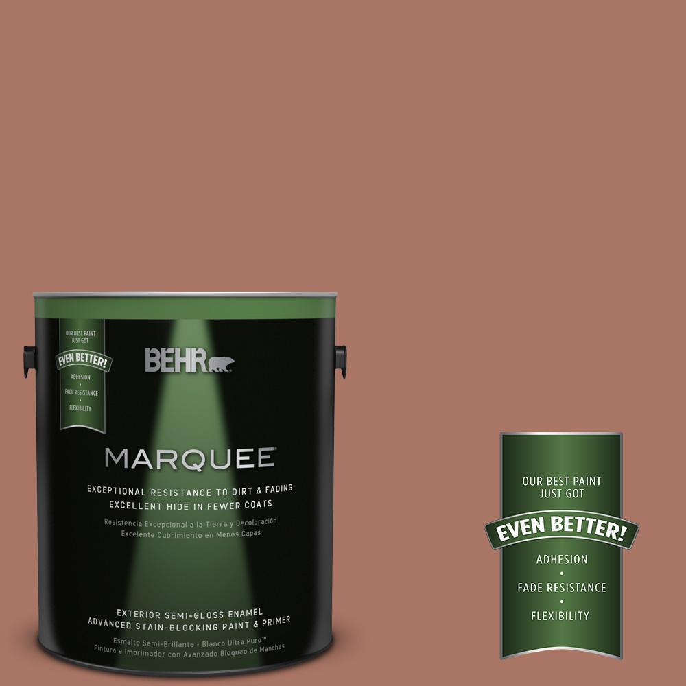 1-gal. #MQ1-60 Sienna Semi-Gloss Enamel Exterior Paint