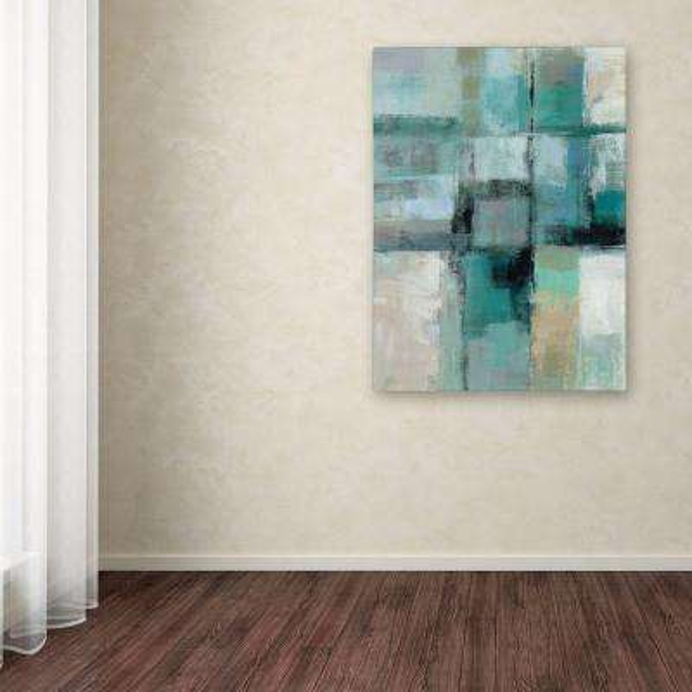 "47 in. x 35 in. ""Island Hues Crop I"" by Silvia Vassileva Printed Canvas Wall Art"