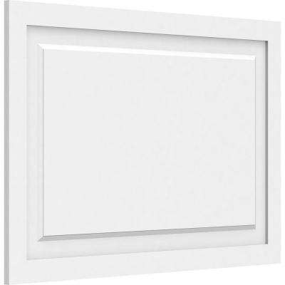 5/8 in. x 3 ft. x 2 ft. Harrison Raised Panel White PVC Decorative Wall Panel