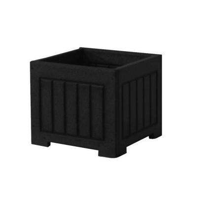 Catalina 12 in. x 12 in. Black Recycled Plastic Commercial Grade Planter Box