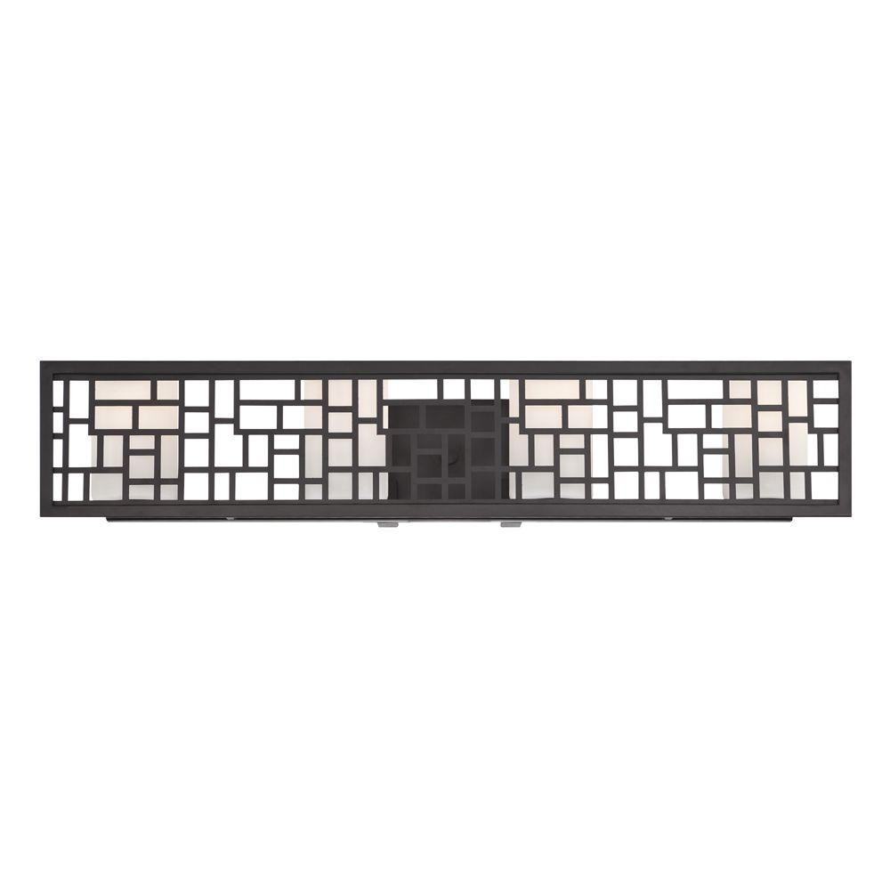 Trellis 4-Light Oil Rubbed Bronze Interior Incandescent Bath Vanity Light