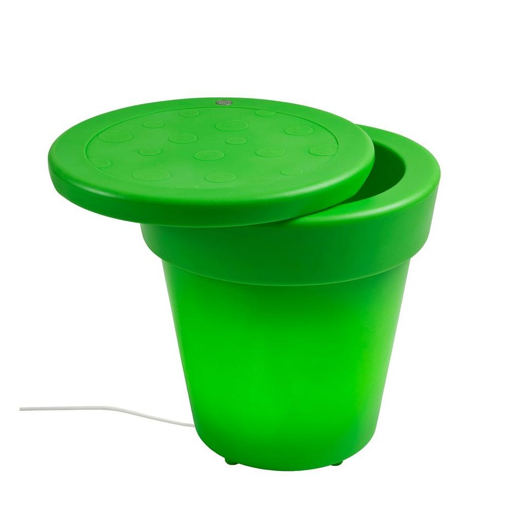 Twist Production 1-Light Outdoor Apple Green Lighted Ice Bucket