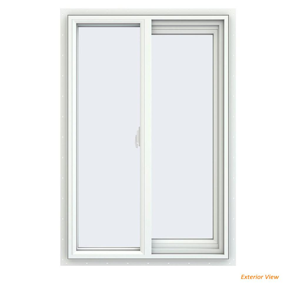 23.5 in. x 35.5 in. V-2500 Series White Vinyl Right-Handed Sliding