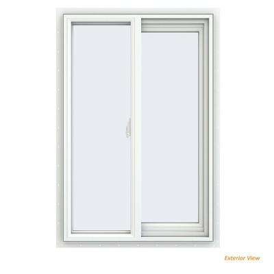 23.5 in. x 35.5 in. V-2500 Series White Vinyl Right-Handed Sliding Window with Fiberglass Mesh Screen