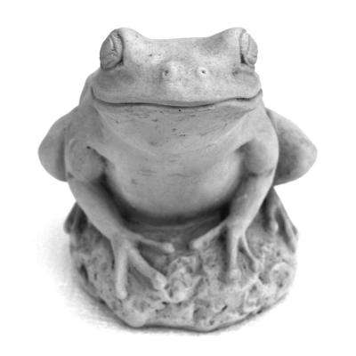 Cast Stone Tree Frog Garden Statue Antique Gray