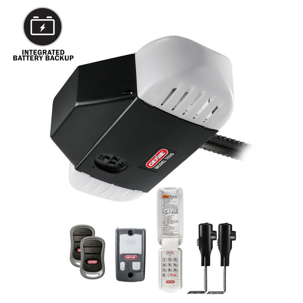 750 3/4 HP Chain Drive Garage Door Opener with Battery Backup
