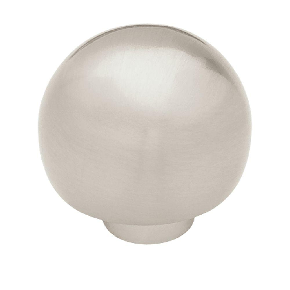 Liberty Ball Top 1 4 In 32mm Satin Nickel Round Cabinet