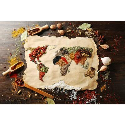 Spice Map Foam Placemats (Set of 4)
