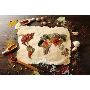 Click here to buy  Spice Map Foam Placemats (Set of 4).
