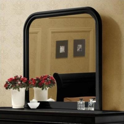 Medium Arch Black Modern Mirror (38.25 in. H x 1 in. W)