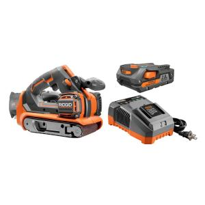 Ridgid 18-Volt GEN5X Lithium-Ion Cordless Brushless 3 inch x 18 inch Belt Sander Kit with (1) 2.0Ah Battery... by RIDGID
