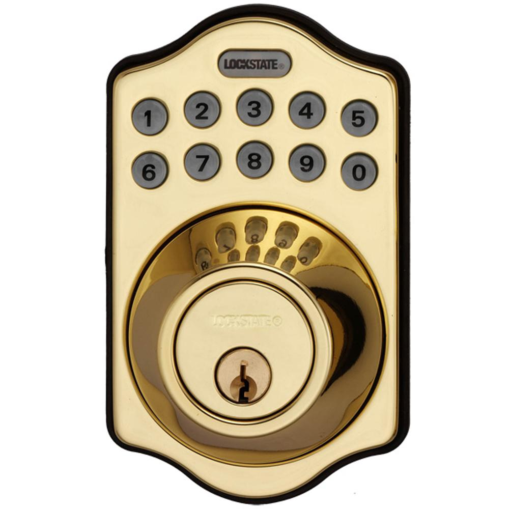 RemoteLock 5i WiFi Polished Brass Electronic Deadbolt Door Lock - Aspen