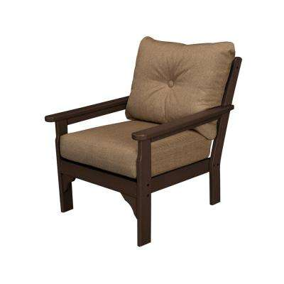 Vineyard Plastic Outdoor Lounge Chair with Sesame Cushion