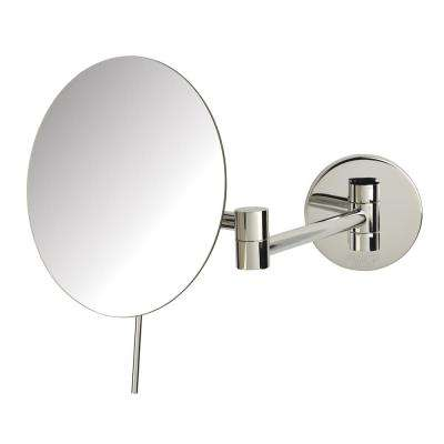 9 in. x10 in. Wall Mirror in Chrome