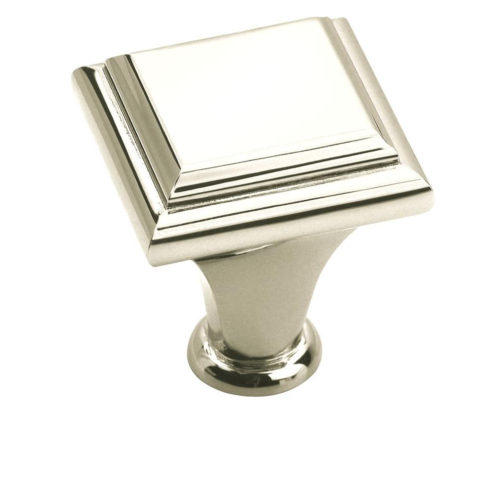 Manor 1 in. Polished Nickel Cabinet Knob