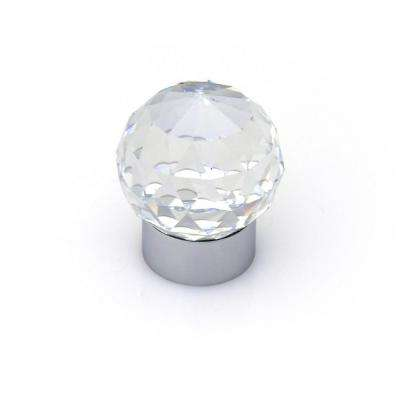 Swarovski Crystal Collection Chrome Round Cabinet Knob
