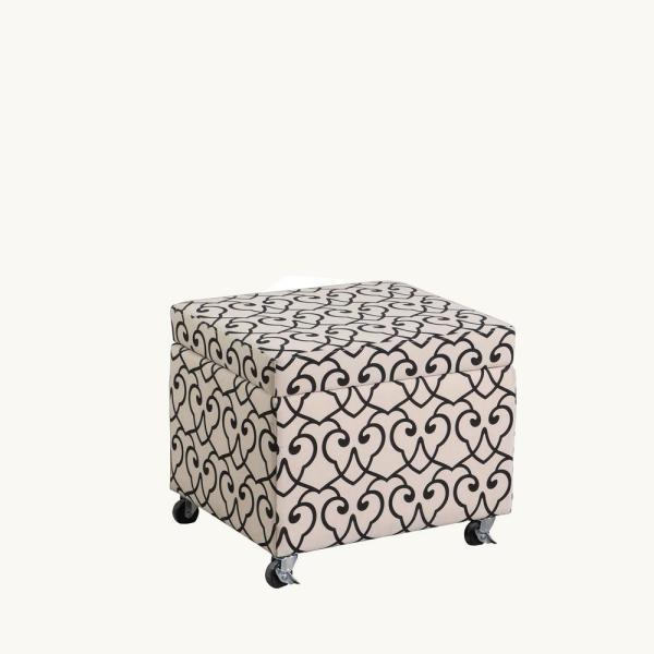 Terrific Beige Moroccan Heart Black Stencil Filing Storage Ottoman Pdpeps Interior Chair Design Pdpepsorg