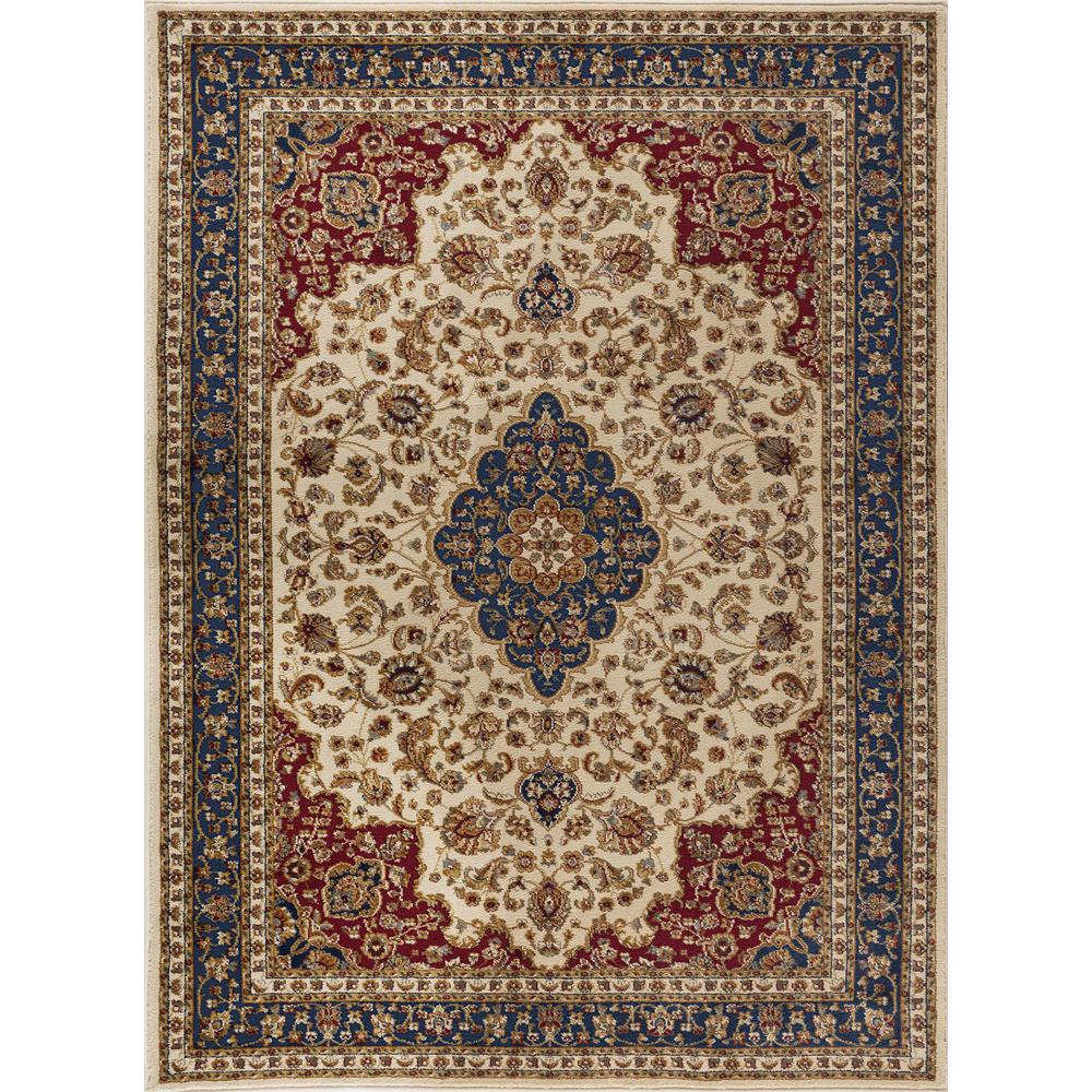 Tayse Rugs Sensation Beige 9 Ft X 12 Ft Traditional Area